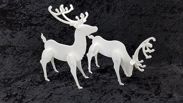 decorative acrylic deer standing 2 pack christmas reindeer display tabletop designed after popular - Christmas Reindeer 2