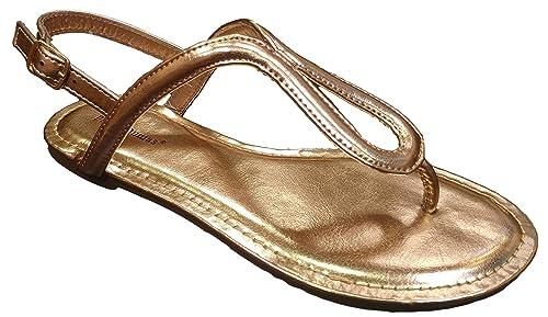 6894f2c3bfd Pierre Dumas Women s Limit-2 T-Strap Thong Sandal (7.5 M
