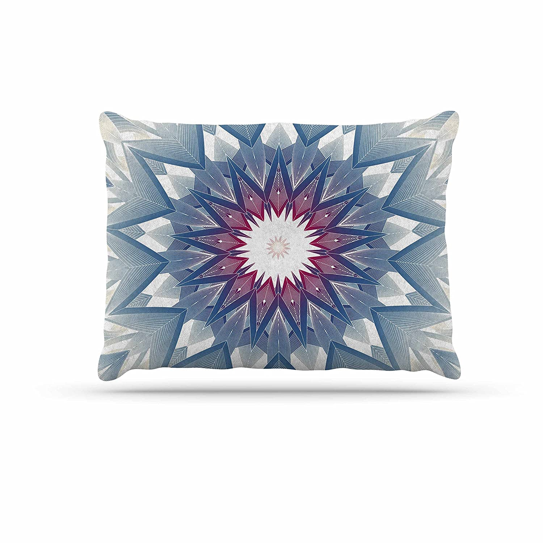 KESS InHouse Angelo Carantola Reach Out Beige Lavender Dog Bed, 50  x 40