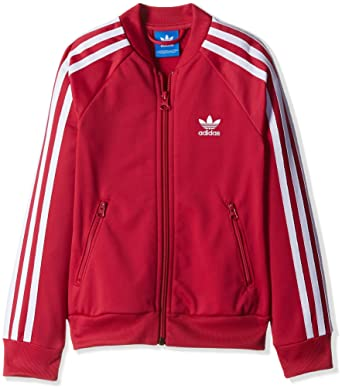 Red Adidas Messi Logo Mens Woven Jacket Clothing & Accessories