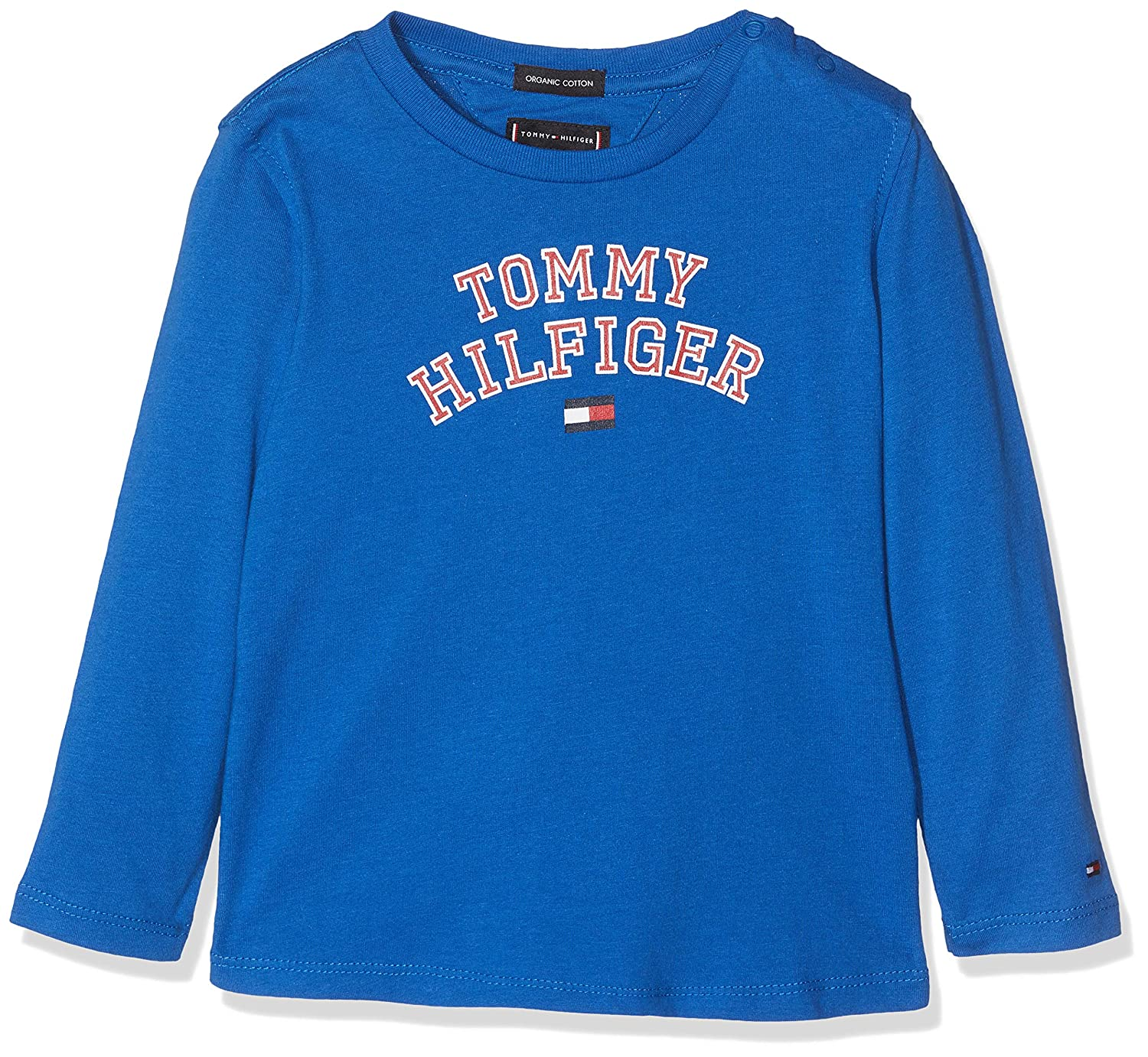 Tommy Hilfiger Essential Tee L/S, Maglia a Maniche Lunghe Bambino KB0KB04432