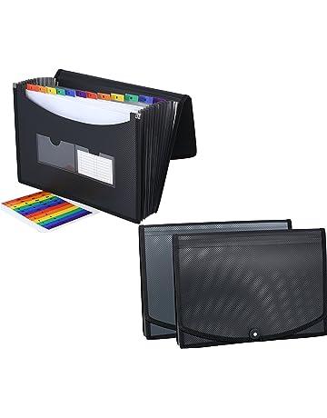 c702190eaeae 2 Pack - DecoBros Poly Expanding File Folder 13 Pockets