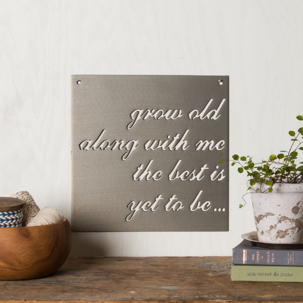 """Grow Old Together"" Metal Sign - Magnolia Market 