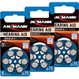 18ANSMANN Pilas para audífonos 675Zinc Aire 1,4V PR44AZA675Azul 5013253pilas para audífonos batería–Especialmente larga duración