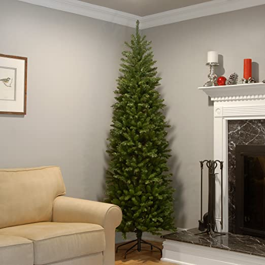 amazoncom national tree 75 foot kingswood fir pencil tree kw7 500 75 home kitchen - Half Wall Christmas Tree