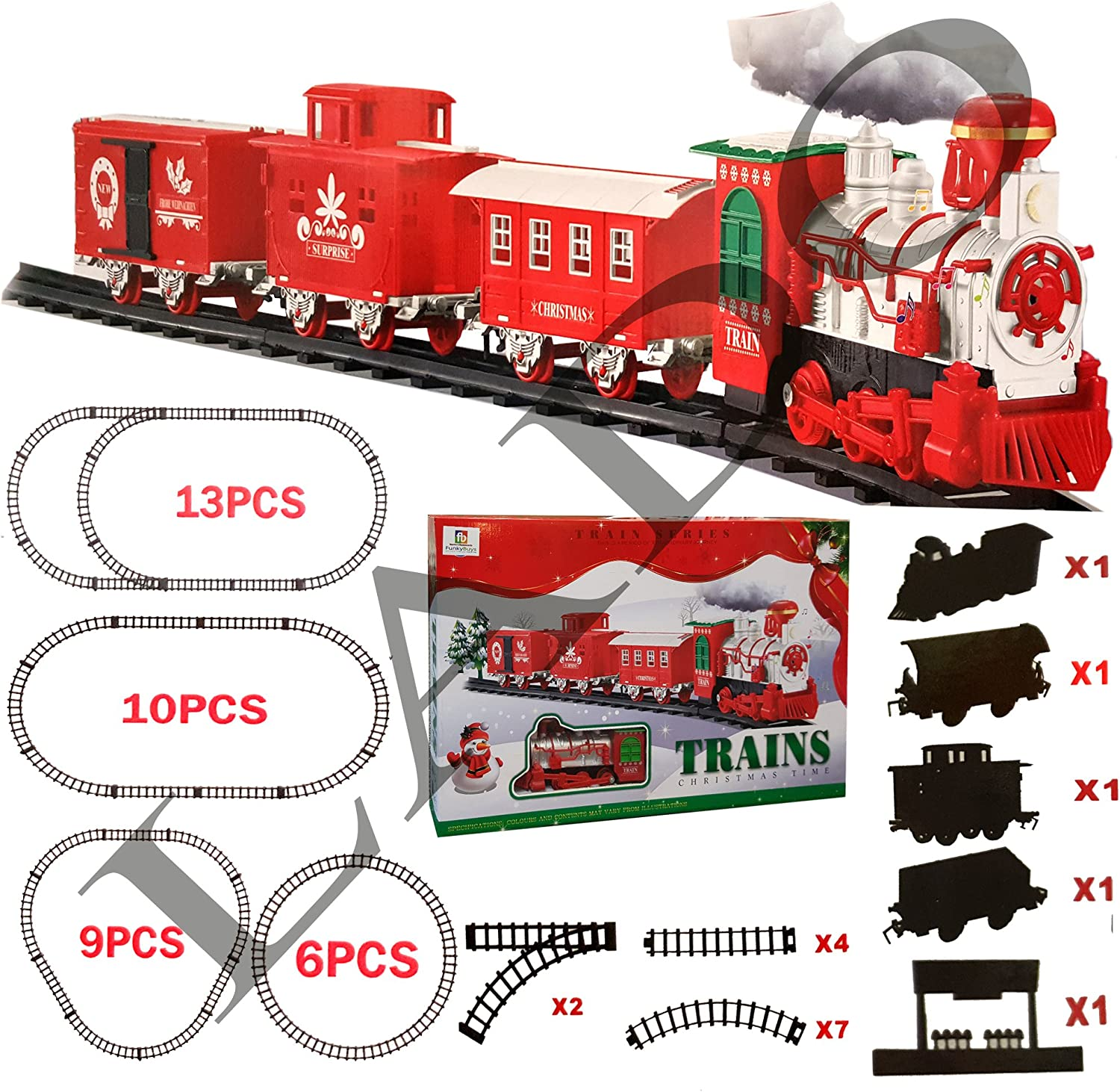 Extra Large Christmas Holiday Express Festive Train (SI