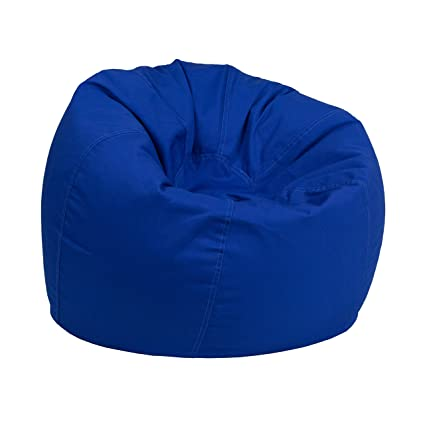 Stupendous Flash Furniture Small Solid Royal Blue Kids Bean Bag Chair Inzonedesignstudio Interior Chair Design Inzonedesignstudiocom