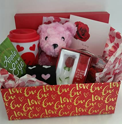 Amazon Com Valentine Day Gift Box Set Teddy Bear Lotion