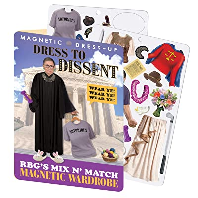 The Unemployed Philosophers Guild RBG Dress to Dissent - Ruth Bader Ginsburg Magnetic Dress Up Play Set: Toys & Games