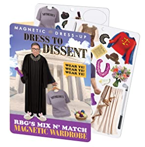 The Unemployed Philosophers Guild RBG Dress to Dissent - Ruth Bader Ginsburg Magnetic Dress Up Play Set