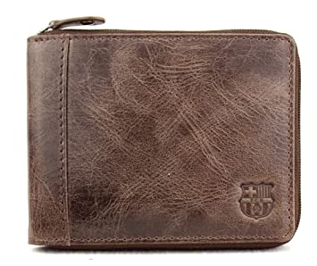 a06bec021 CARTERA PIEL F.C.BARCELONA (MARRÓN): Amazon.es: Equipaje