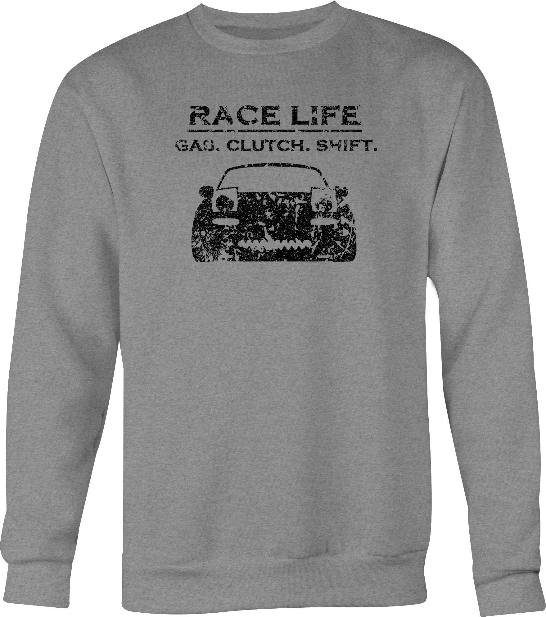 Distress Race Life Gas Clutch Shift Mazda Miata Crewneck Shirts