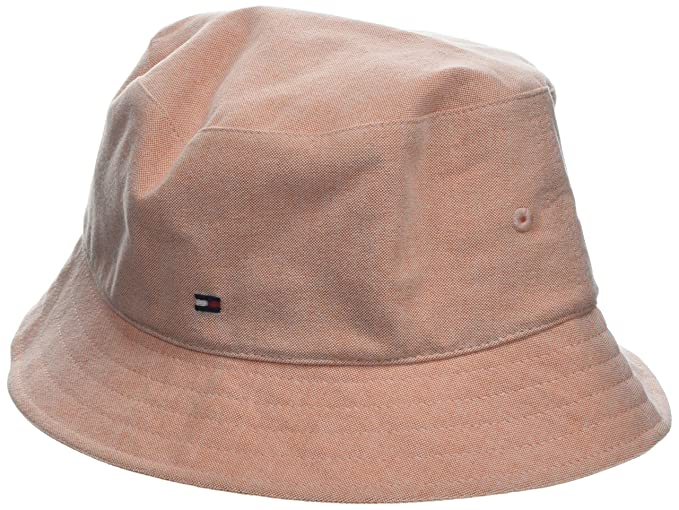 de1b1aa6 Tommy Hilfiger Women's Chambray Bucket Hat Flat Cap, Orange (Bird of  Paradise 812), One (Size: OS): Amazon.co.uk: Clothing