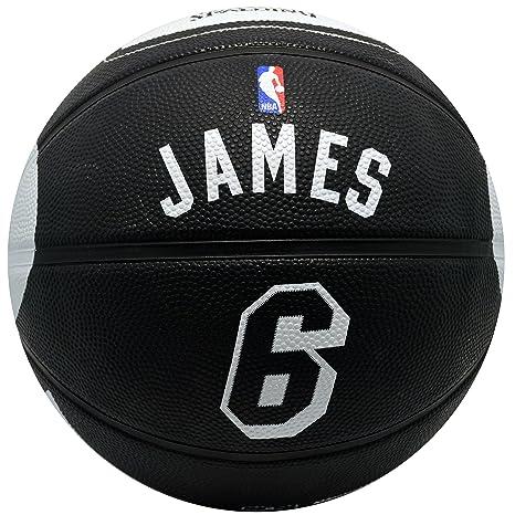 592e8022115 Amazon.com   Spalding Miami Heat Lebron James  6 Jersey Rubber Basketball    Sports   Outdoors