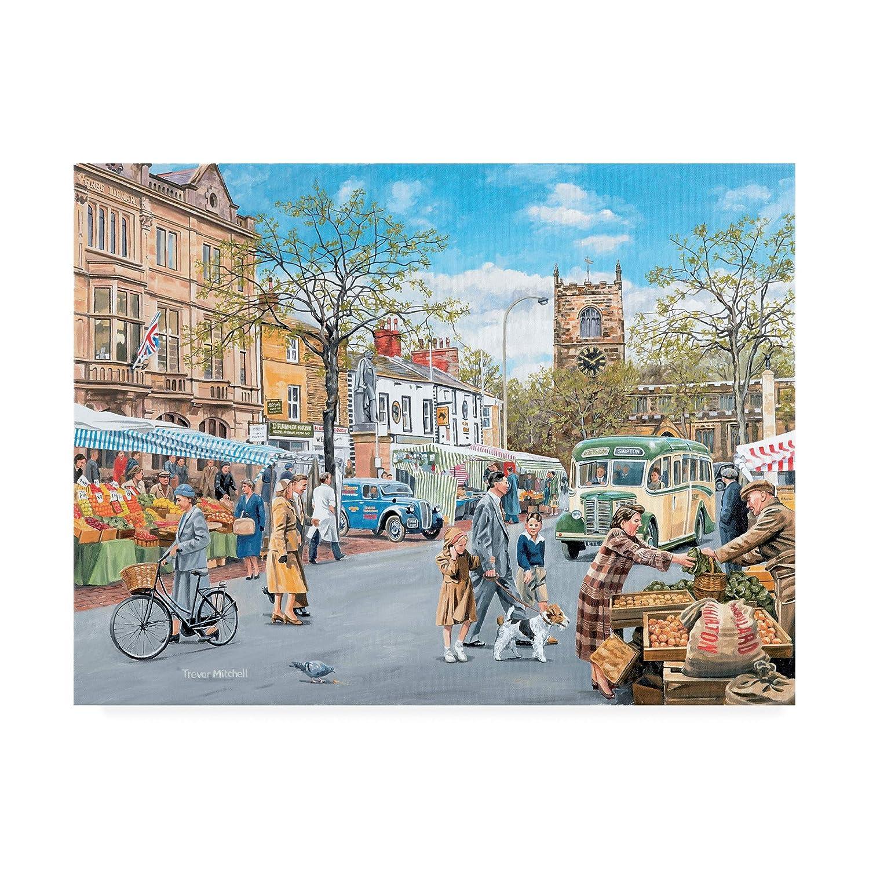 14x19 Trademark Fine Art ALI46002C1419GG Market Day by Trevor Mitchell, 14x19