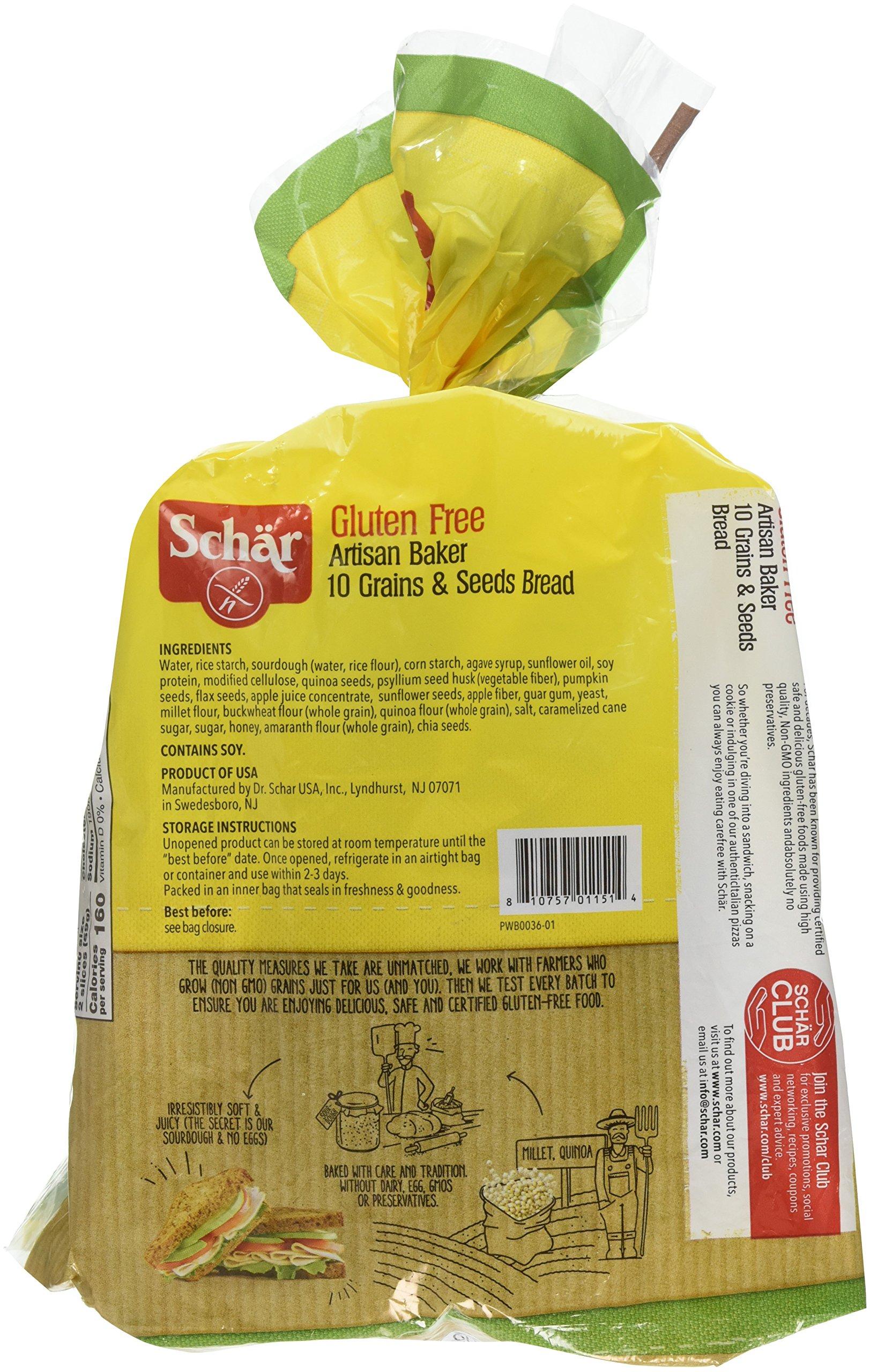 Schar Gluten Free Artisan Baker 10 Grain & Seeds Bread, 6 Count by Schar (Image #3)