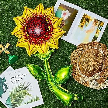 Jinliang Set di 16 decorazioni per feste di compleanno a tema girasole