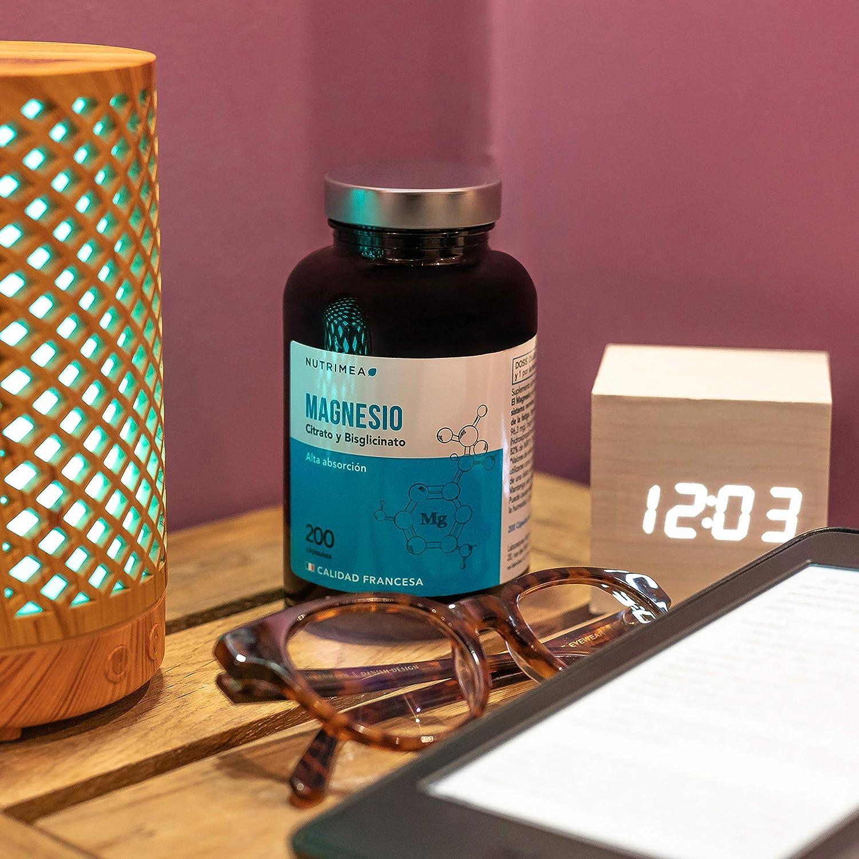 Citrato de Magnesio Suplemento de Magnesio Bisglicinato Reducir Estres, Cansancio Mejora Huesos, Sistema Nervioso y Músculos: Amazon.es: Salud y cuidado ...