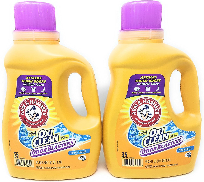 Arm & Hammer Laundry Detergent Plus OxiClean, Fresh Burst, 61.25 Oz (Pack of 2)