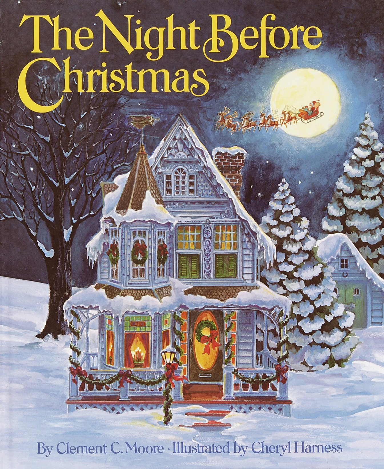 amazoncom the night before christmas 9780394826981 clement c moore cheryl harness books