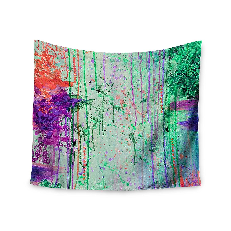 Kess InHouse EBI Emporium The 90s Throwback Green Purple Painting 68 x 80 Wall Tapestry