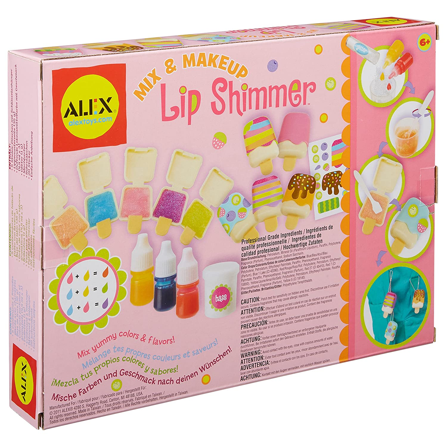Amazon ALEX Spa Fun Mix and Make Up Lip Shimmer Toys & Games