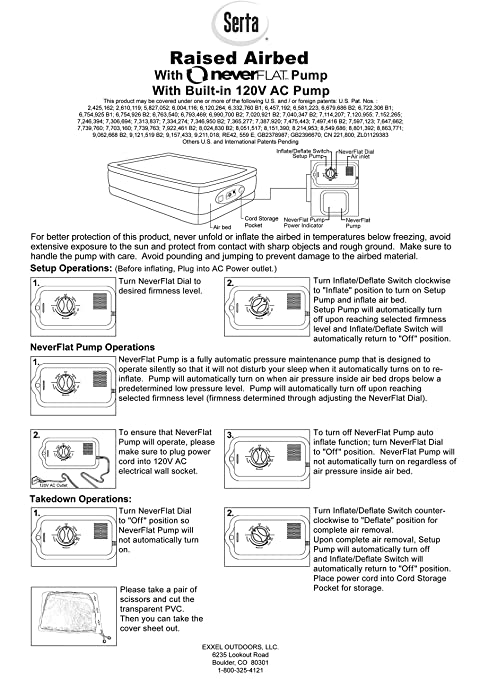 Amazon.com: Serta Raised Queen Air Mattress with Never Flat Pump ...