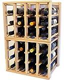 24 Bottle Modular Stackable Wine Rack Stack As Many Sets Together (1 set = 24 Bottle Capacity)