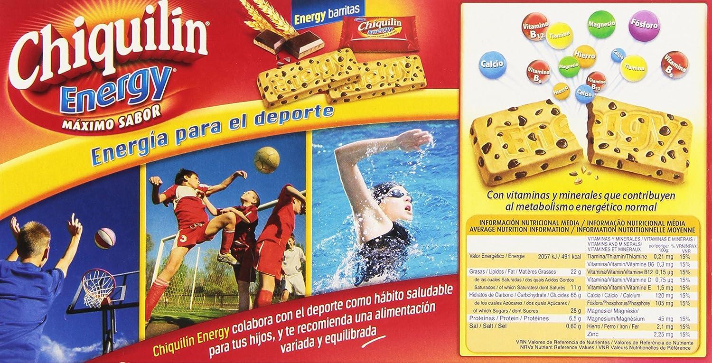 Chiquilin - Energy Maximo Sabor - Galleta con gotas de chocolate - 5 x 40 g - [pack de 3]: Amazon.es: Alimentación y bebidas