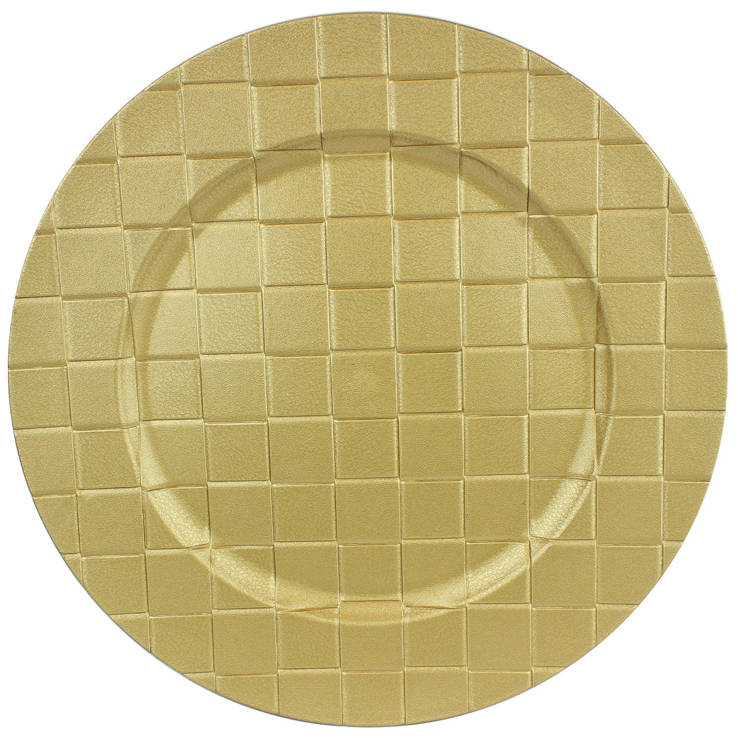 13'' Round Charger Dinner Plates by bogo Brands (Gold, 50)