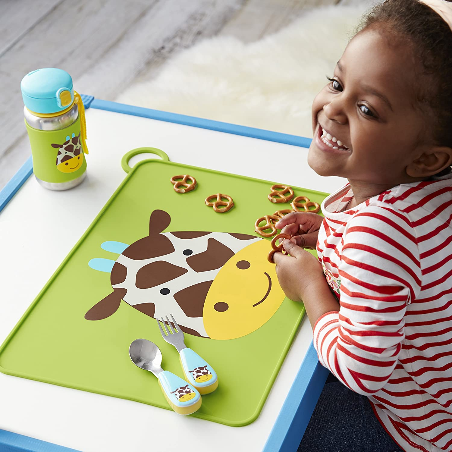 Skip Hop Zoo Fold and Go Silicone Placemat Jules Giraffe