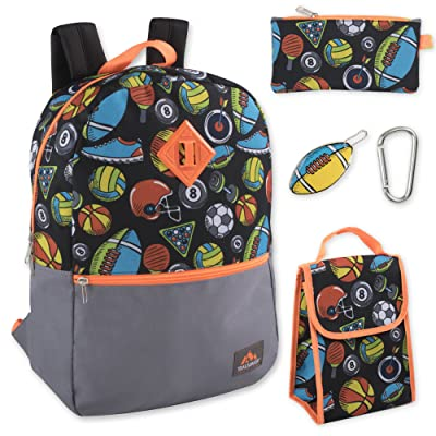Trailmaker 5 in 1 Full Size Character School Backpack and Lunch Bag Set For Boys | Kids' Backpacks