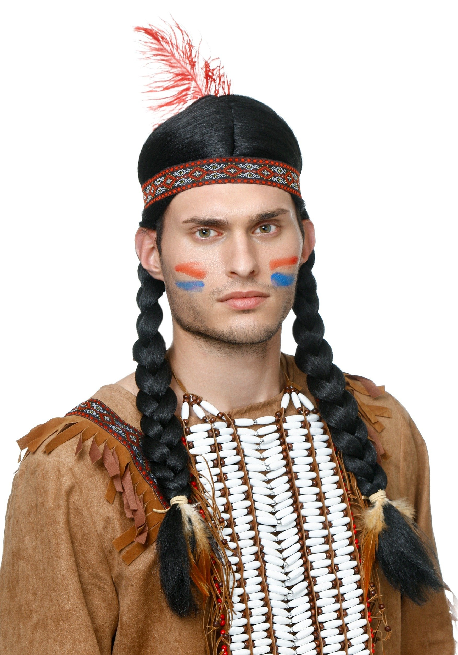 FunCostumes Men's Native Synthetic Hair Braided Wig