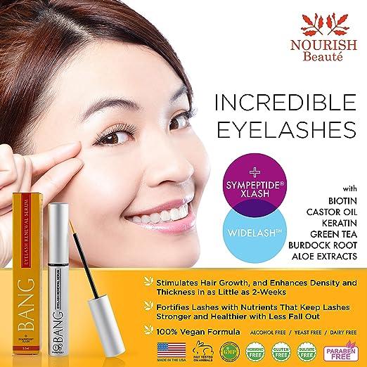 0f05cab72f5 Amazon.com: Bang Eyelash Enhancer Growth Serum – Eye Lash Growing Serum –  New, Improved and Reformulated: Beauty