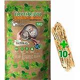 Eritritol 100% Natural Envase Ecologico 1Kg Edulcorante Cero Calorias. Ideal para Reposteria, y Dietas. DulciLight el…