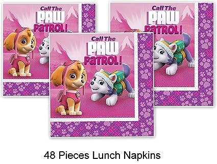 Amazon.com: Paw Patrol cachorros Skye servilletas almuerzo ...