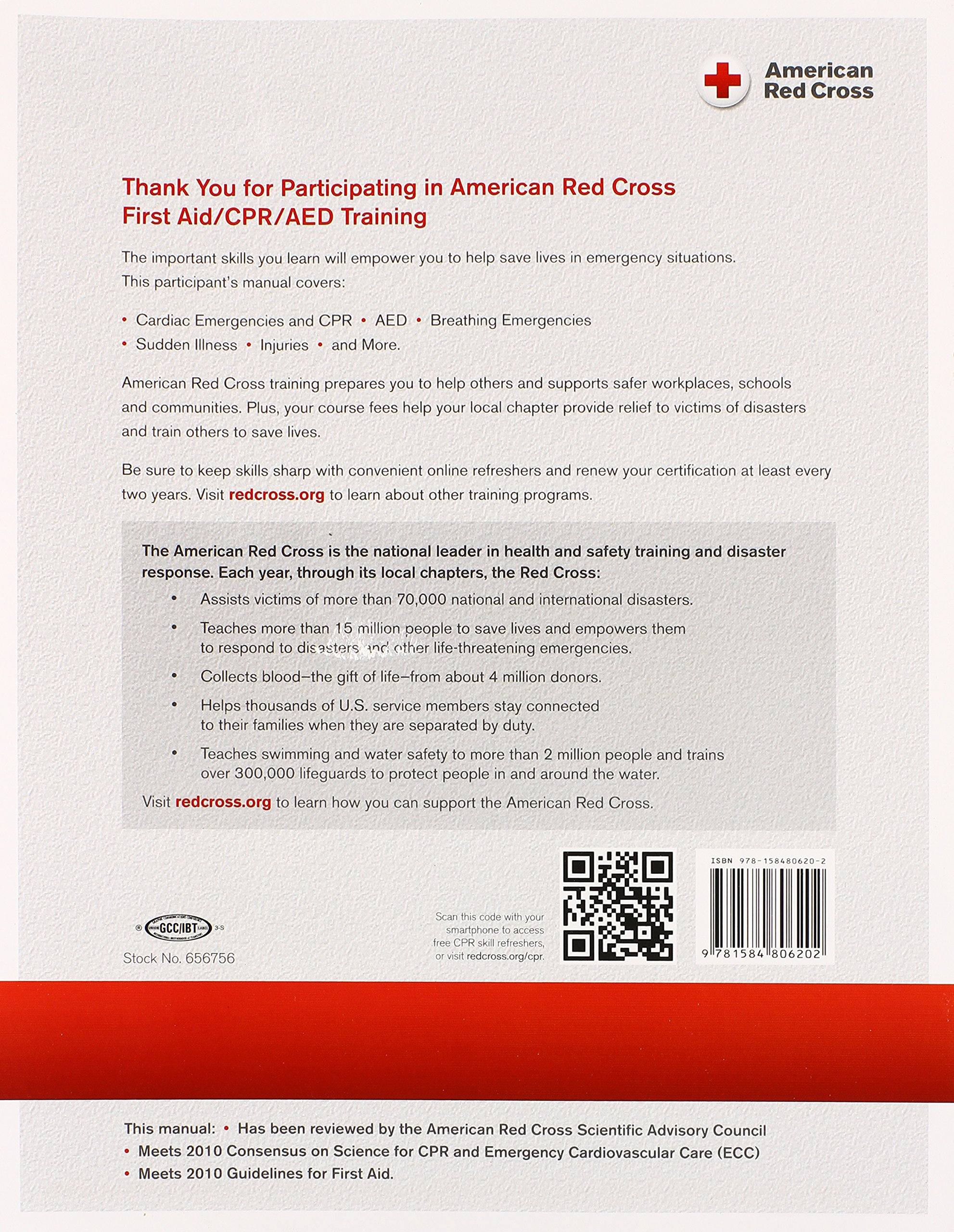 First Aidcpraed Participants Manual Amazon American Red