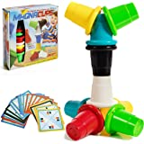 IQ Toys Magnetic Speed Cups Classic Matching and Stacking Quick Cups Family Table Game for Kids and Adults