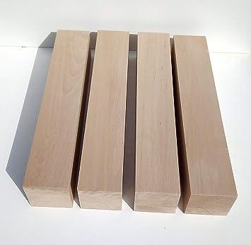 4 patas de mesa de madera de haya maciza, torneadas. Dimensiones ...