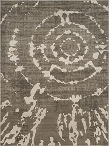 Safavieh Porcello Collection PRL7735E Grey and Ivory Area Rug 8'2″ x 11'