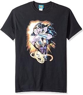 62b0b06e Amazon.com: Trevco Men's Wonder Woman Logo T-Shirt: Clothing