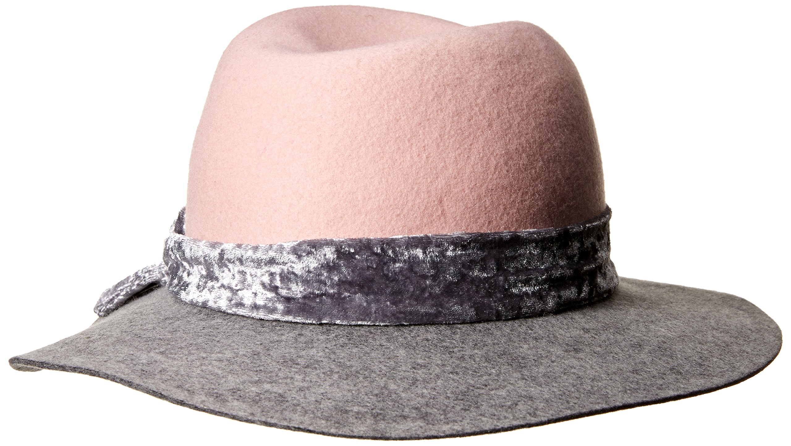 Orchid Row Women's Fashion Ranger Hat with Velvet Band Grey/Pink O/S by Orchid Row (Image #2)