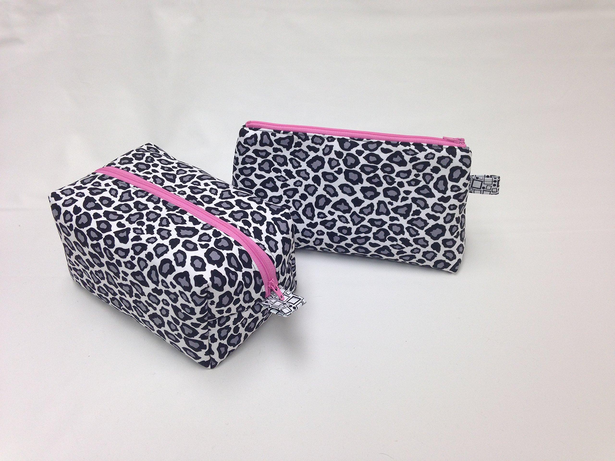 Modern Leopard II Toiletry/Makeup Bag Set