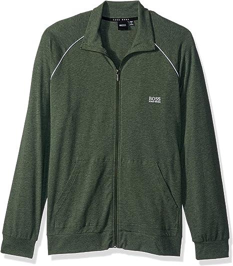 HUGO BOSS Track suit Zip Jacket Bottoms Sweater Brand New Mens Black Green Label