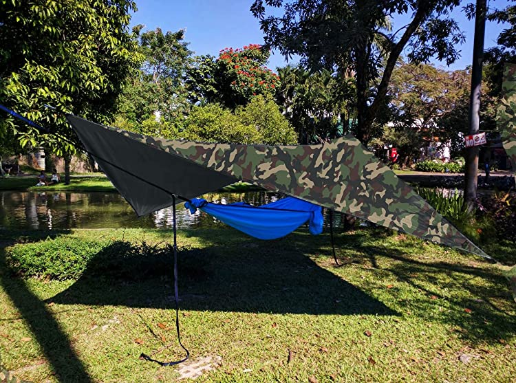 "Chill Gorilla 10x10 Hammock Waterproof Rain Fly Tent Tarp 170"" Centerline"