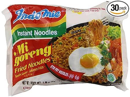 Indomie Fried Noodles 100 Percents Halal Mi Goreng (Pack Of 30) by Indomie