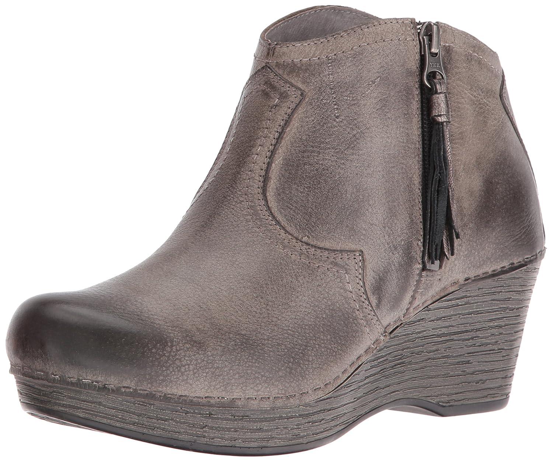 Dansko Women's Veronica Ankle Bootie B01HHCBCP0 40 EU/9.5-10 M US|Stone Distressed