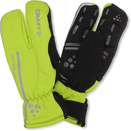 Craft Sportswear Unisex Siberian Split Finger Wind /& Waterproof Glow Reflective Bike /& Cycling Gloves