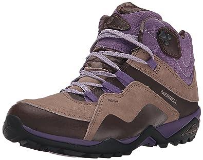 Merrell Women's Fluorecein Mid Waterproof Hiking Boot, Chocolate Brown, ...