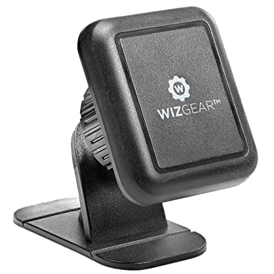 WizGear Magnetic Phone Mount, Universal Stick On Dashboard Magnetic Car Mount Holder, for Cell Phones with Fast Swift-snap Technology: Electronics